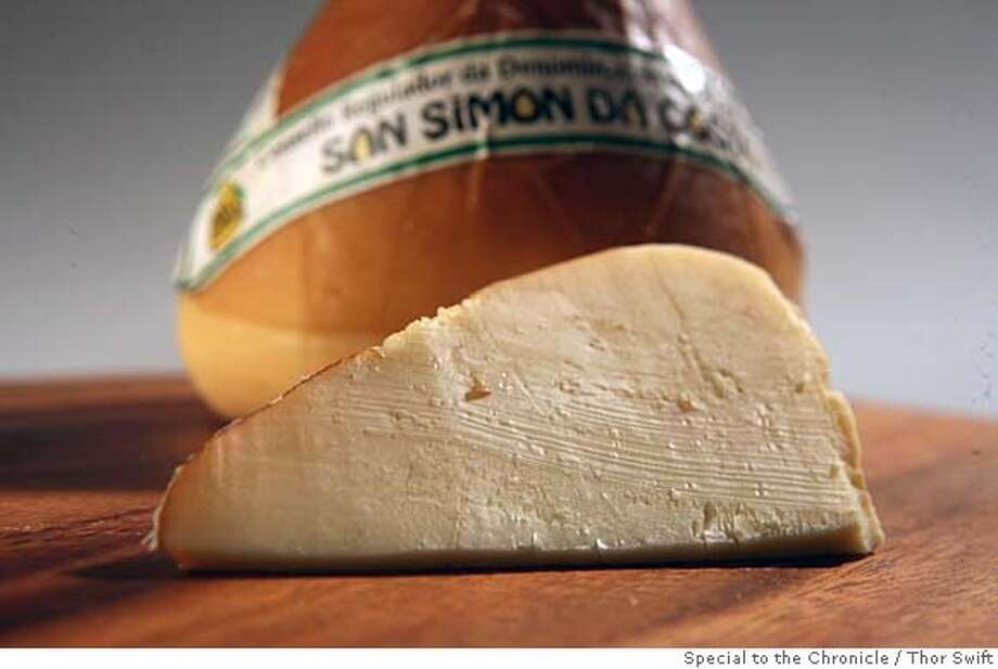 ###Live Caption:San Simon cheese photographed Thursday, March 6, 2008 at the San Francisco Chronicle studio.  Thor Swift For The San Francisco Chronicle###Caption History:San Simon cheese photographed Thursday, March 6, 2008 at the San Francisco Chronicle studio.  Thor Swift For The San Francisco Chronicle###Notes:###Special Instructions:38694 Photo: Thor Swift