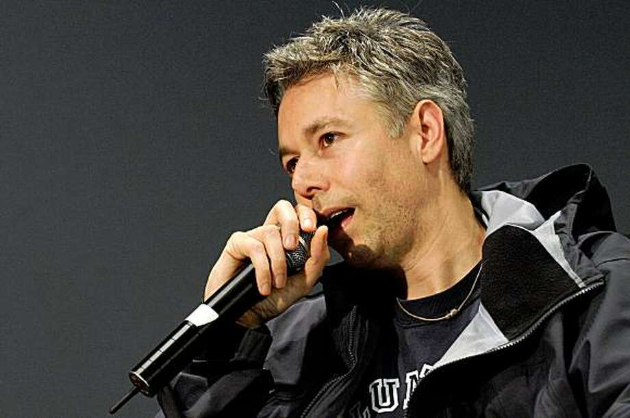 NEW YORK - MAY 02: (FILE PHOTO) Filmmaker and recording artist Adam Yauch speaks onstage at the Apple Soho store on May 2, 2008 in New York City. Adam Yauch of the Beastie Boys announced that doctors had found a cancerous tumor in his left parotid (salivary) gland and will be canceling their upcoming tour and postponing their new album release on July 20, 2009.   (Photo by Bryan Bedder/Getty Images) Photo: Bryan Bedder, Getty Images