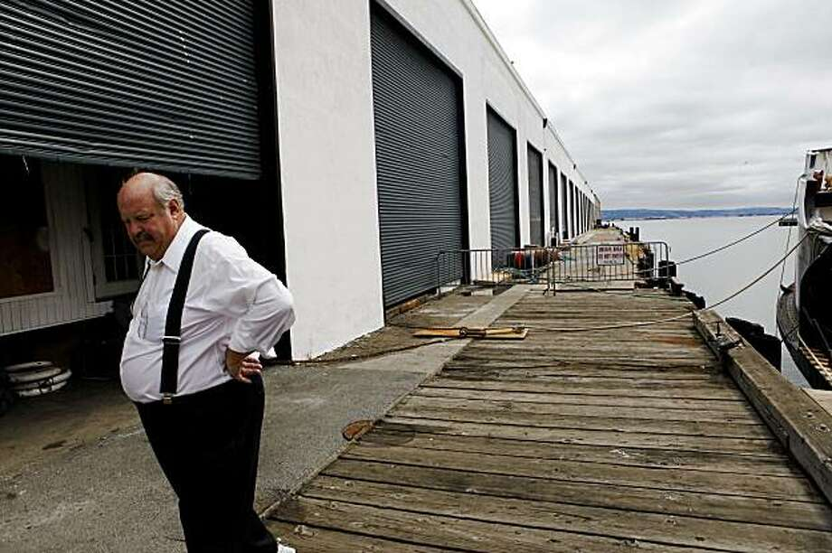 Walking in front of 800 feet of corroded walls he rebuilt, Carl Ernst, president of the Pier 38 MRC inc., has been working with the port of San Francisco to rebuild other damaged supports at Pier 38 on Monday Aug 3, 2009 in San Francisco, Calif. Ernst is now having problems with the port regarding future work. Photo: Mike Kepka, The Chronicle
