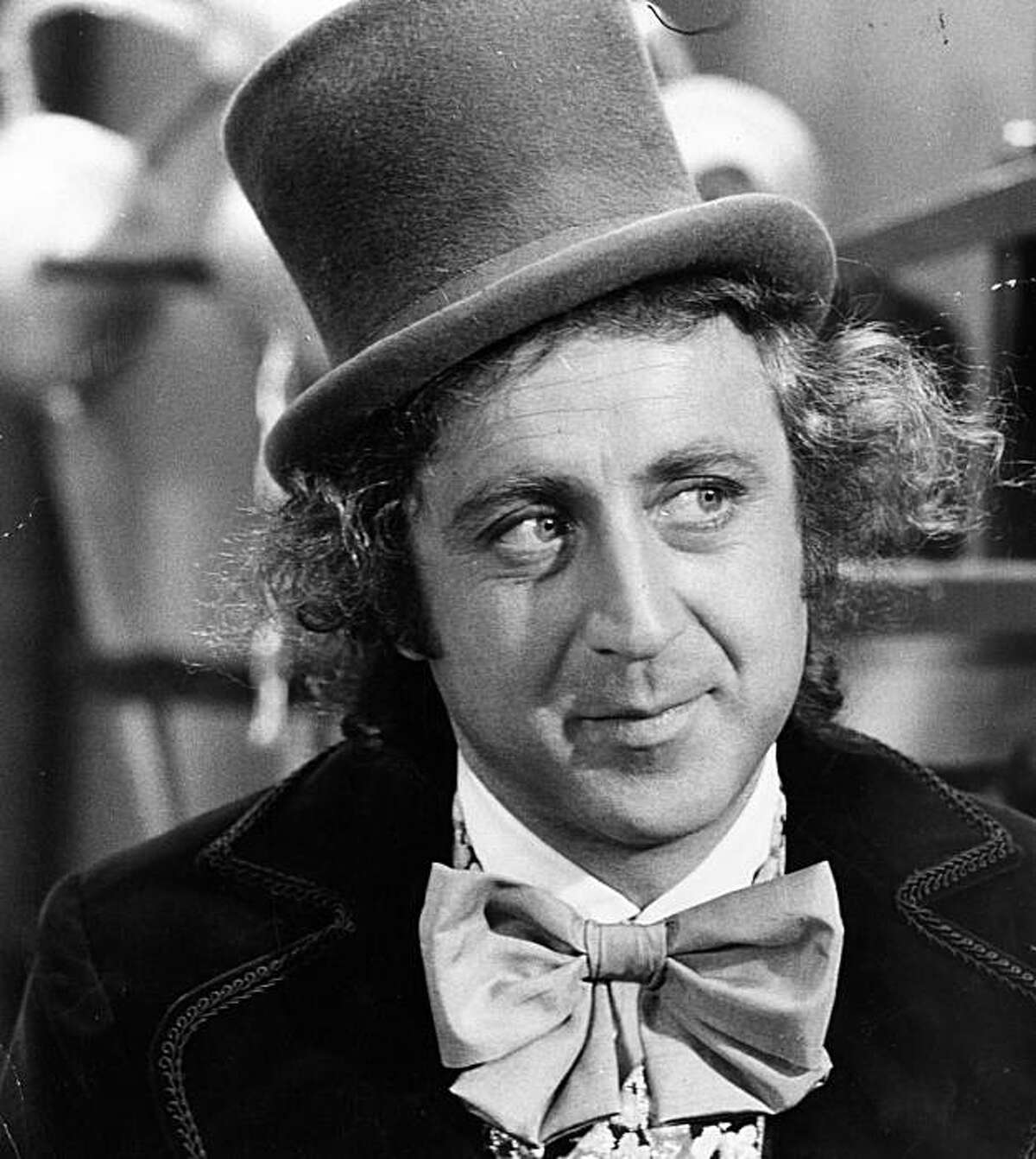 Gene Wilder as Willy Wonka in Willy Wonka & the Chocolate Factory. 1971 Distributed by Paramount Pictures (original release); later Warner Bros.