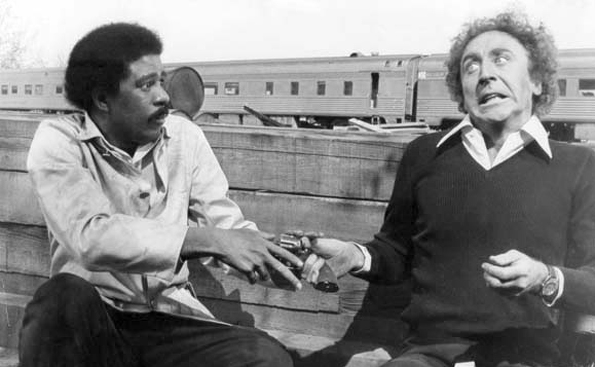 Richard Pryor an experienced con man and Gene Wilder a young publisher meet under unusual circumstances in Silver Streak. 20th Century Fox. Chronicle files. paged 1976