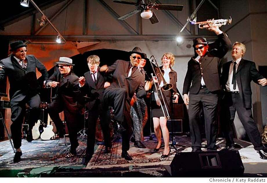 "###Live Caption:Left to Right: Ben Eastwood, bass guitar, Eric Dinwiddie, guitar, Tim Carter, drums, Musashi ""Moose"" Lethridge, guitar, Paul Jackson, keyboards, Jeanne Geiger, trombone, Scott Bertrand, trumpet, Adam Beach, saxophone, are The Uptones, an 8 piece ska band that has reformed around the original core members, rehearses at Soundwave Studios in Oakland, Calif. on Wednesday, March 12, 2008.  Photo by Katy Raddatz / The San Francisco Chronicle###Caption History:Left to Right: Ben Eastwood, bass guitar, Eric Dinwiddie, guitar, Tim Carter, drums, Musashi ""Moose"" Lethridge, guitar, Paul Jackson, keyboards, Jeanne Geiger, trombone, Scott Bertrand, trumpet, Adam Beach, saxophone, are The Uptones, an 8 piece ska band that has reformed around the original core members, rehearses at Soundwave Studios in Oakland, Calif. on Wednesday, March 12, 2008.  Photo by Katy Raddatz / The San Francisco Chronicle###Notes:###Special Instructions:MANDATORY CREDIT FOR PHOTOG AND SAN FRANCISCO CHRONICLE/NO SALES-MAGS OUT Photo: KATY RADDATZ"