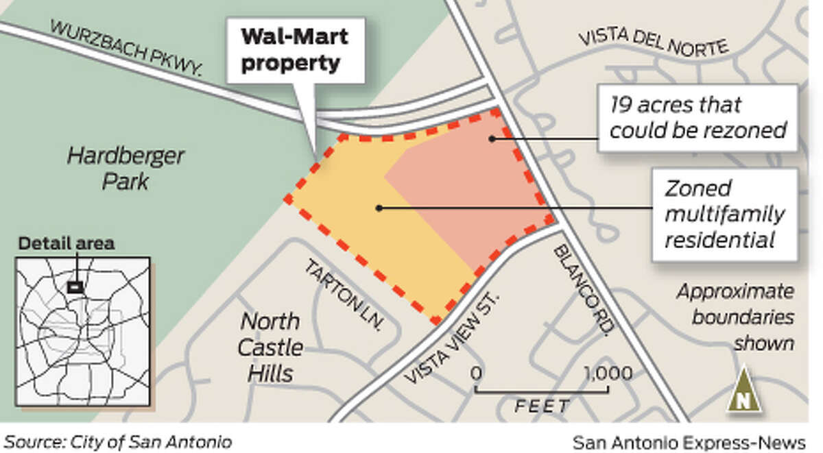 Wal-Mart property on Wurzbach Parkway.