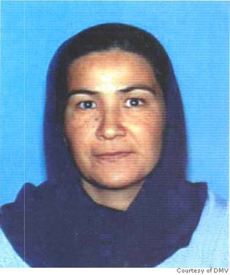 ###Live Caption:DMV photo of Alia Ansari.###Caption History:DMV photo of Alia Ansari. Credit: Courtesy of DMV  Ran on: 10-24-2006  Alia Ansari, a Fremont mother of six, was killed Thursday.  ALSO Ran on: 10-28-2006  Men from the Afghan community form a line 10 deep to offer their final respects to the hearse carrying the body of Alia Ansari.  also Ran on: 10-29-2006  The Ansari family, above, listens to a public memorial service for Alia Ansari, right, a Fremont mother of six gunned down on Oct. 19 as she walked to pick up two of her children at school. Among the more than 100 people in attendance Saturday at Centerville Presbyterian Church in Fremont were her husband, Ahmadullah Asari (above left) and three of their children. The service attempted to create understanding between Muslims and Christians.  Ran on: 03-02-2007  Manuel Urango  Ran on: 03-02-2007  Manuel Urango  Ran on: 03-02-2007 Ran on: 03-02-2007###Notes:###Special Instructions: Photo: Courtesy Of DMV