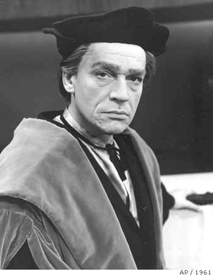 "###Live Caption:*** FILE *** Actor Paul Scofield poses in charecter for his role as Sir Thomas More in the play ""A Man For All Seasons"" in in New York, in Dec. 1961. Scofield, the towering British stage actor who won international fame and an Academy Award for the film ""A Man for All Seasons,"" has died. He was 86. Scofield died Wednesday in a hospital near his home in southern England, agent Rosalind Chatto said. He had been suffering from leukemia. (AP Photo/FILES)###Caption History:*** FILE *** Actor Paul Scofield poses in charecter for his role as Sir Thomas More in the play ""A Man For All Seasons"" in in New York, in Dec. 1961. Scofield, the towering British stage actor who won international fame and an Academy Award for the film ""A Man for All Seasons,"" has died. He was 86. Scofield died Wednesday in a hospital near his home in southern England, agent Rosalind Chatto said. He had been suffering from leukemia. (AP Photo/FILES)###Notes:###Special Instructions:1961 FILE PHOTO Photo: Associated Press"