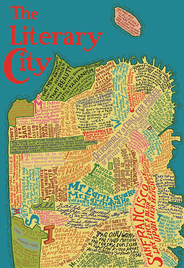 Literary Map Of San Francisco Sfgate
