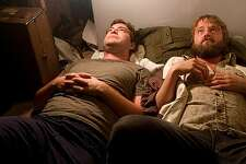 """In this image released by the Magnolia Pictures, Mark Duplass, left, and Joshua Leonard are shown in a scene from, """"Humpday."""""""