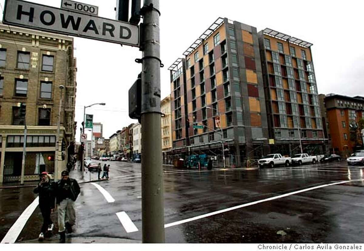 ###Live Caption:The newly-renovated Plaza Hotel on the corner of 6th and Howard Streets in San Francisco, Ca., on Thursday, December 1, 2005. Residents living near the intersection of Howard and Sixth streets experience plenty of urban grit. The neighborhood is home to formerly homeless seniors, hundreds of SRO hotel tenants and plenty of registered sex offenders. Drug dealing and prostitution are just part of the scenery. So, when the city proposed rebuilding the aging Plaza Hotel and making it low-income housing, neighbors laid out the welcome mat. Now, however, things have changed. Under a cutting edge homeless housing initiative that has been billed as a national model, the city wants to use the hotel to house chronically homeless people who were kicked out of shelters because they are too violent or unstable.###Caption History:NIMBY02_002_CAG.JPG The newly-renovated Plaza Hotel on the corner of 6th and Howard Streets in San Francisco, Ca., on Thursday, December 1, 2005. Residents living near the intersection of Howard and Sixth streets experience plenty of urban grit. The neighborhood is home to formerly homeless seniors, hundreds of SRO hotel tenants and plenty of registered sex offenders. Drug dealing and prostitution are just part of the scenery. So, when the city proposed rebuilding the aging Plaza Hotel and making it low-income housing, neighbors laid out the welcome mat. Now, however, things have changed. Under a cutting edge homeless housing initiative that has been billed as a national model, the city wants to use the hotel to house chronically homeless people who were kicked out of shelters because they are too violent or unstable. Neighbors are saying no thanks. Antoinetta Stadlman is one of those neighbors. She lives in an SRO hotel just about a block away from the new housing for the homeless....