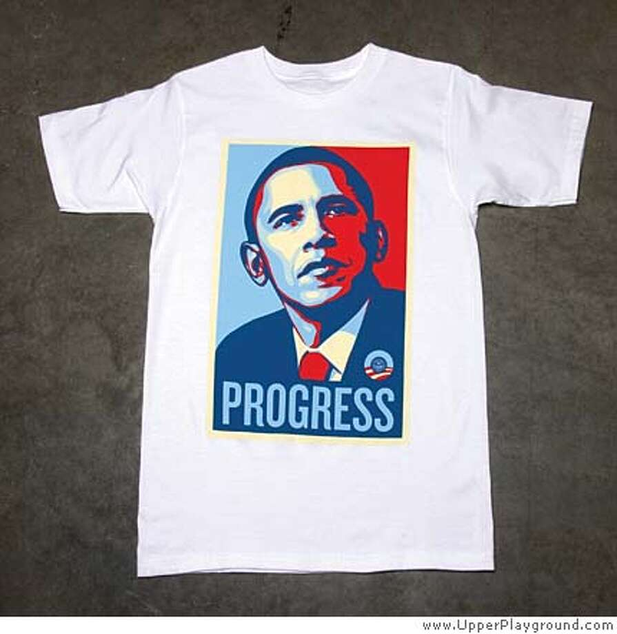 ###Live Caption:Barack Obama t-shirt###Caption History:###Notes:###Special Instructions: Photo: Sylvia Rubin