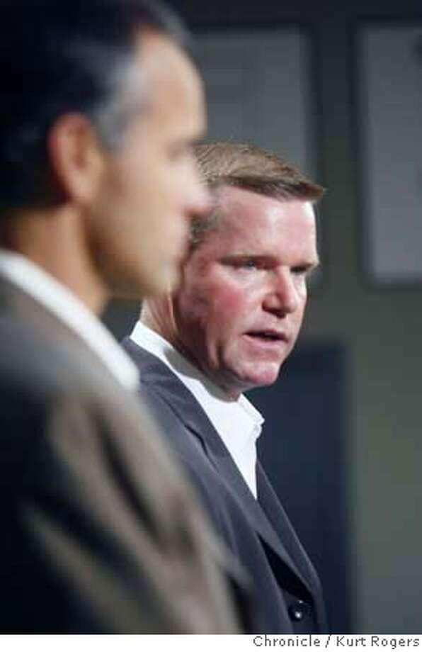 ###Live Caption:Coach Mike Nolan and new 49ER GM Scott McCloughan.  The San Francisco 49ERS held a press conference to announce that Scott McCloughan is becoming the General Manager of the team . Coach Mike Nolan will remain the head coach.  49ERS_0058_KR.jpg  Kurt Rogers / The Chronicle Photo taken on 1/2/08, in Santa Clara, CA, USA###Caption History:Coach Mike Nolan and new 49ER GM Scott McCloughan.  The San Francisco 49ERS held a press conference to announce that Scott McCloughan is becoming the General Manager of the team . Coach Mike Nolan will remain the head coach.  49ERS_0058_KR.jpg  Kurt Rogers / The Chronicle Photo taken on 1/2/08, in Santa Clara, CA, USA###Notes:###Special Instructions:MANDATORY CREDIT FOR PHOTOG AND SAN FRANCISCO CHRONICLE/NO SALES-MAGS OUT Photo: Kurt Rogers