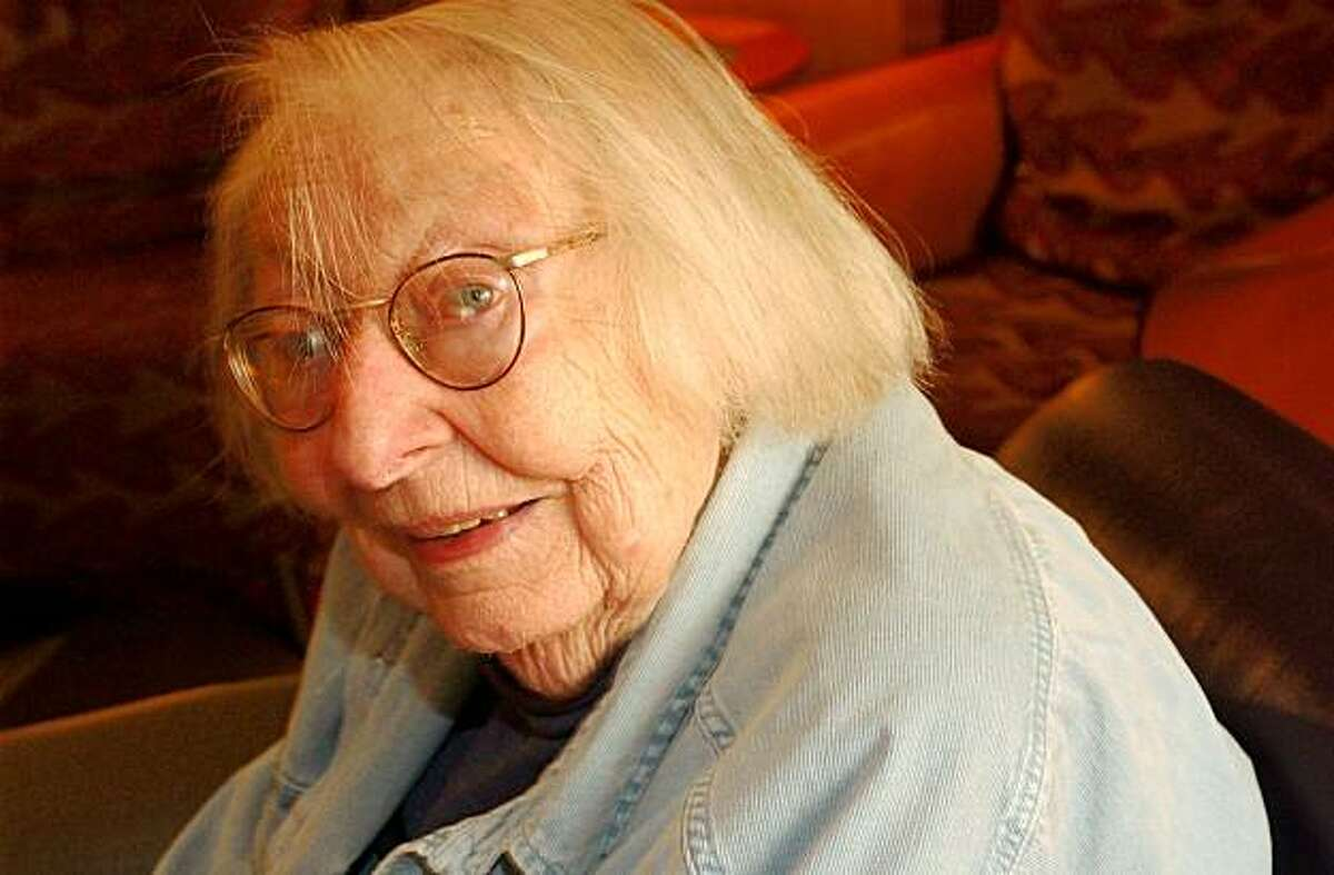 Jane Jacobs, 88 yr old author who has focused on cities. on 5/17/04 in San Francisco, CA. must credit photo by Penni Gladstone/ Ran on: 05-02-2006 Jane Jacobs, who died last week, dismissed suburbs as ghastly communities.