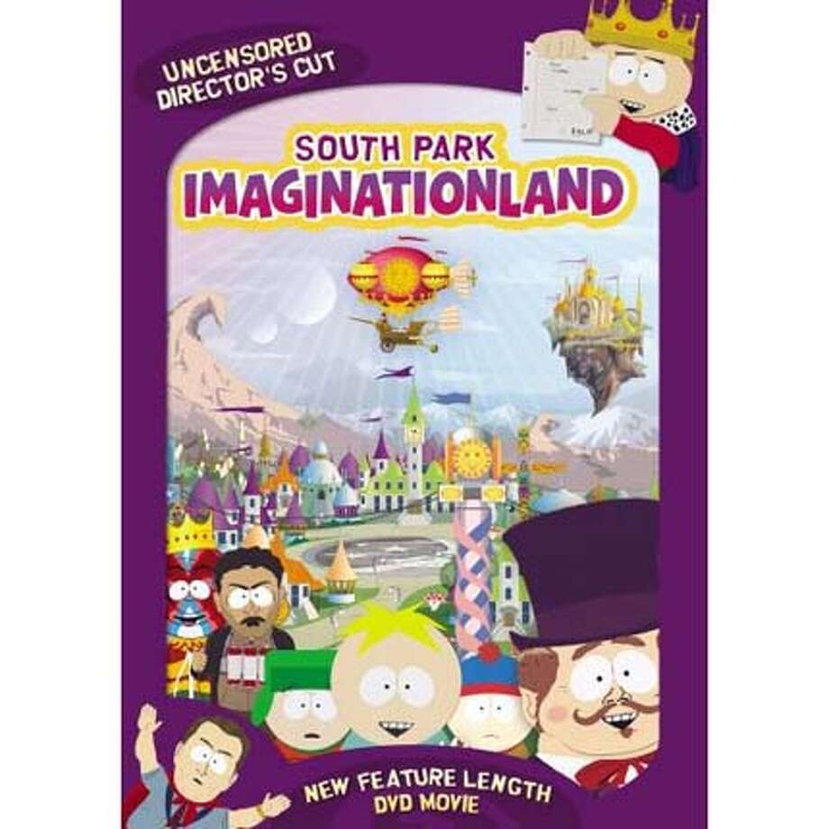 ###Live Caption:dvd cover for SOUTH PARK: IMAGINATIONLAND###Caption History:dvd cover for SOUTH PARK: IMAGINATIONLAND###Notes:###Special Instructions: Photo: Handout