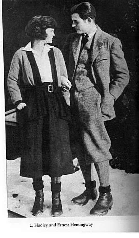 "ernest hemingway with his first wife, Hadley. from the book ""a moveable feast"""