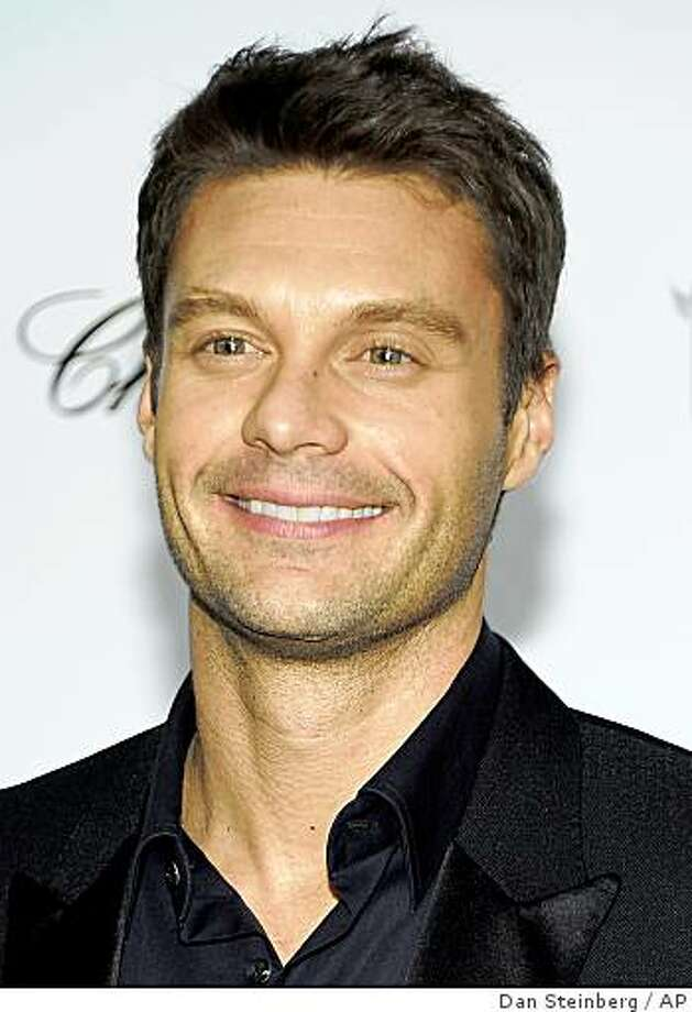 In this Feb. 22, 2009 file photo, Television personality Ryan Seacrest poses on the press line at the Elton John Academy Award viewing and after party in West Hollywood, Calif. Photo: Dan Steinberg, AP