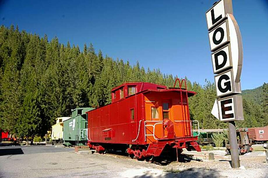 Railroad Park Resort in Dunsmuir, Calif. Most of the lodging is in renovated railroad cabooses and box cars. The restaurant is made from two dining cars pushed together. Photo: Spud Hilton, The Chronicle