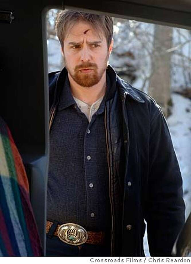 "Sam Rockwell as Glenn Marchand in David Gordon Green's ""Snow Angels"" 2008  Sam Rockwell as Glenn Marchand in David Gordon Green's SNOW ANGELS. PHOTO CREDIT: Chris Reardon/Crossroads Films  Ran on: 03-16-2008  Sam Rockwell stars in David Gordon Green's &quo;Snow Angels&quo; as an often violent and drunken part-time Christian.  Ran on: 03-16-2008 Photo: Chris Reardon/Snow Blower Produc"