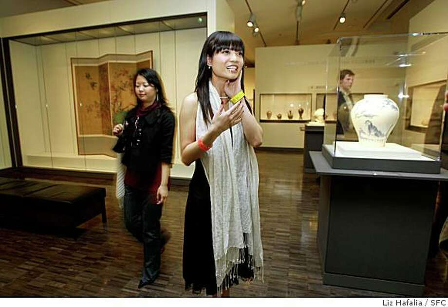 "Actress Natalie Xu in ""Learning to Fly"", in a gallery at the opening night party of the SF Asian American Film Festival at the Asian Art Museum in San Francisco, Calif., on Thursday, March 13, 2008.Photo by Liz Hafalia / San Francisco Chronicle Photo: Liz Hafalia, SFC"