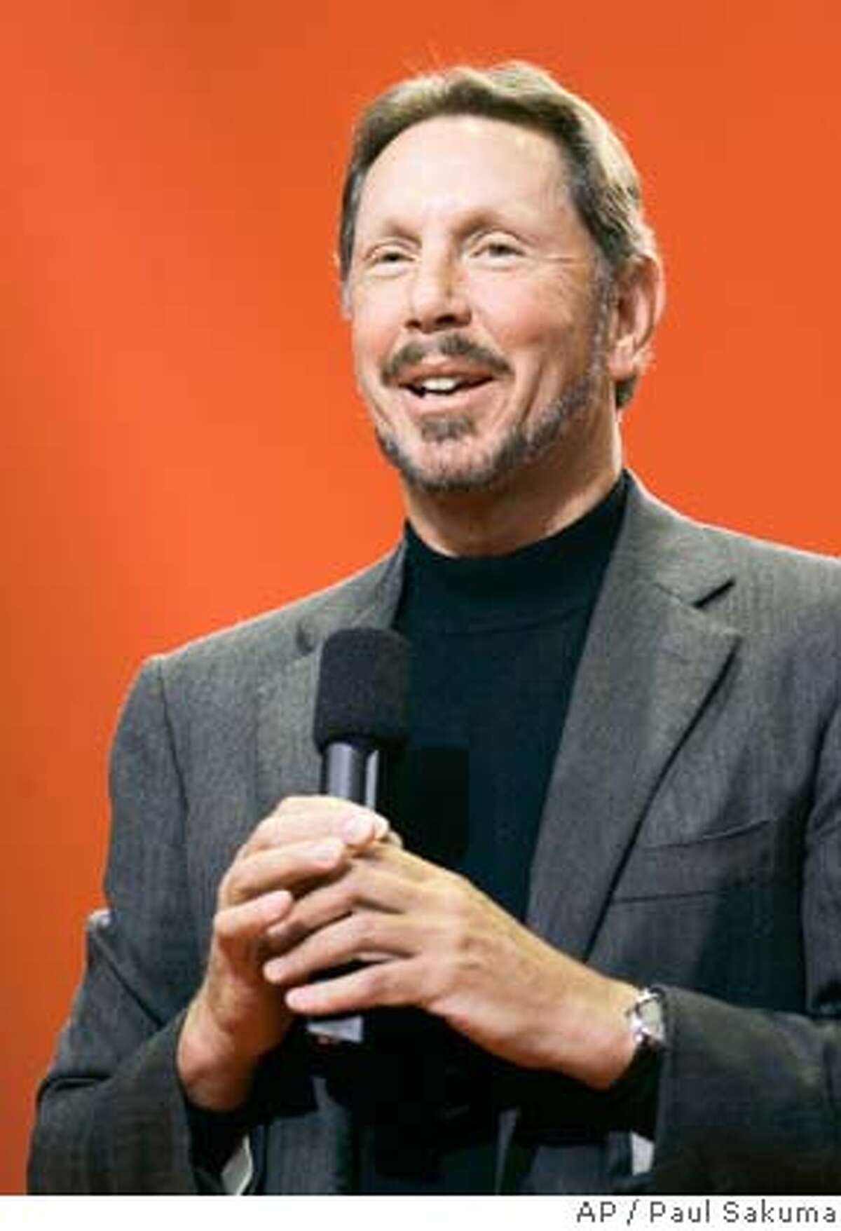 **HOLD FOR RELEASE UNTIL 6:01 p.m. EDT THURSDAY, SEPT. 20, 2007. THIS STORY MAY NOT BE PUBLISHED, BROADCAST OR POSTED ONLINE BEFORE 6:01 p.m. EDT THURSDAY** **FILE** Oracle CEO Larry Ellison smiles during his keynote address at Oracle Open World conference in San Francisco, in this Oct. 25, 2006 file photo. Forbes magazine releases its annual rankings of the nation's wealthiest individuals on Thursday, Sept. 20, 2007. (AP Photo/Paul Sakuma, file) Ran on: 09-21-2007 Larry Ellison Rank: 4 City: Woodside Wealth: $26 billion