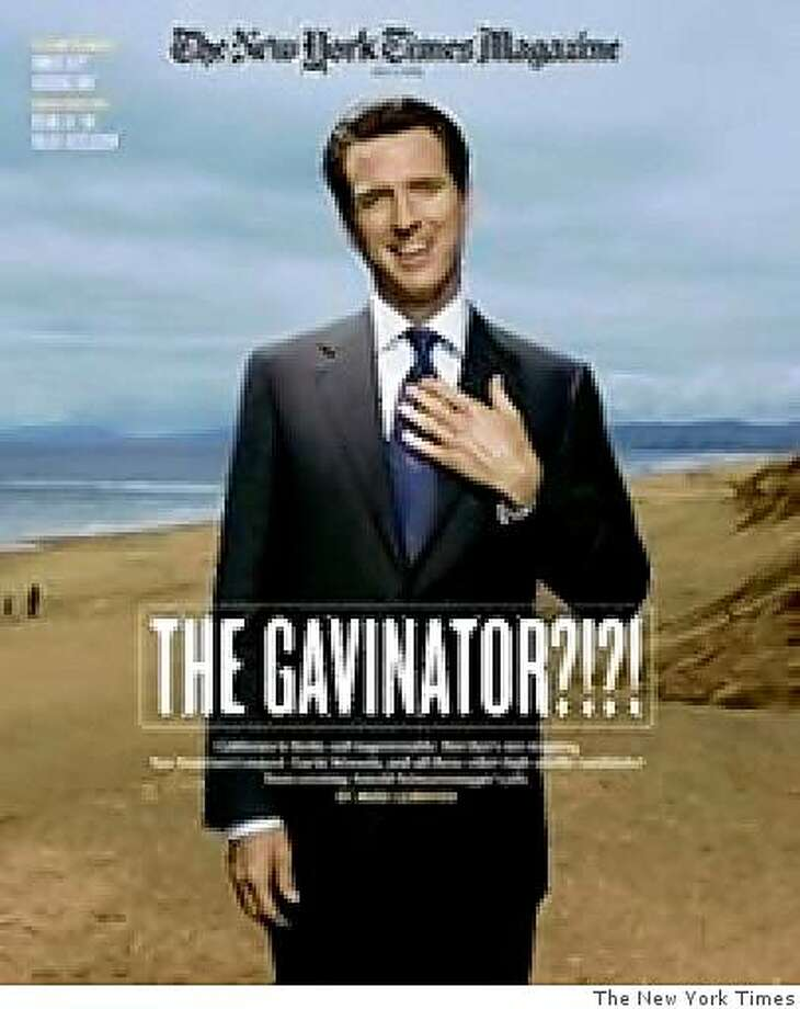 Gavin Newsom is featured on the cover of the New York Times Magazine. Photo: The New York Times