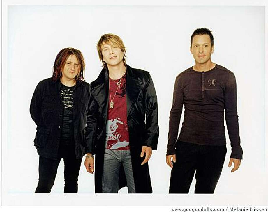 The Goo Goo Dolls (from left): singer-bassist Robby Takac, singer-guitarist Johnny Rzeznik and drummer Mike Malinin Photo: Www.googoodolls.com, Melanie Nissen