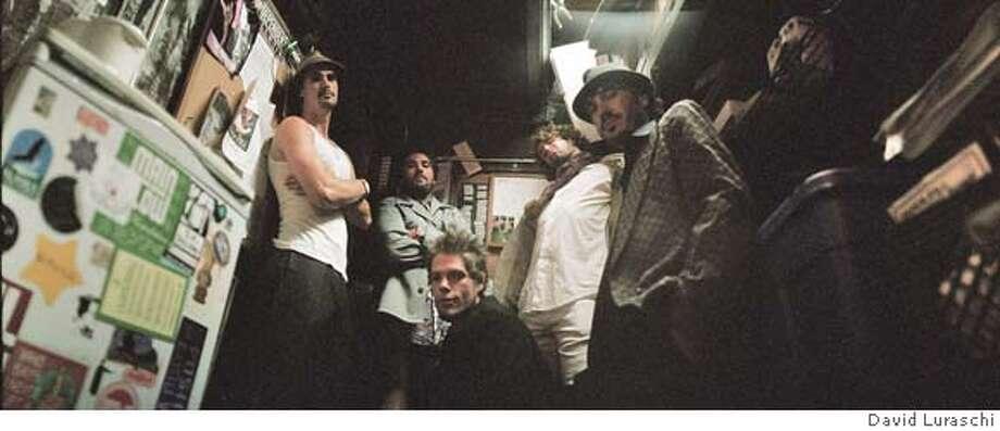 Artist: Nino Moschella  Photo (L to R):josh lippi,nino moschella,ben schwier(kneeling),derek taylor,mikey  natural photo credit: David Luraschi Photo: David Luraschi