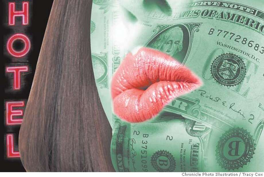 Call-girl business: high pay, brief career. Chronicle photo illustration by Tracy Cox