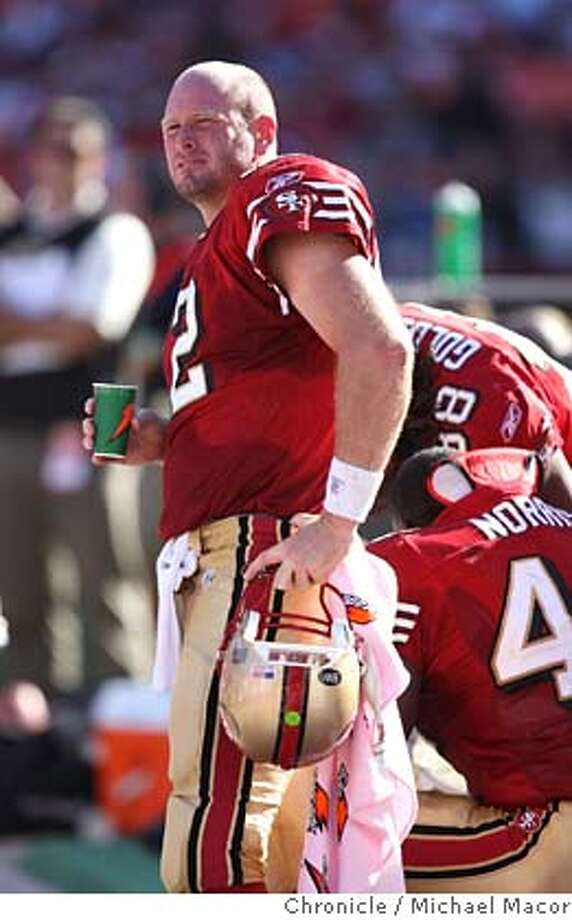 ###Live Caption:adf###Caption History:49ers_ravens_671_mac.jpg San Francisco Quarterback Trent Dilfer and the 49ers came up 2 points short of the Raven's today as the fell to Baltimore 9-7. San Francisco 49ers vs. Baltimore Ravens at Monster Park. Michael Macor / The Chronicle Photo taken on 10/7/07, in San Francisco, CA, USA  Ran on: 10-08-2007  Trent Dilfer, who is sacked, above left, pitches the ball to Maurice Hicks in the first quarter. The quarterback threw one interception against his former team.  Ran on: 10-19-2007  Trent Dilfer###Notes:###Special Instructions:MANDATORY CREDIT FOR PHOTOG AND SAN FRANCISCO CHRONICLE/NO SALES-MAGS OUT Photo: Michael Macor