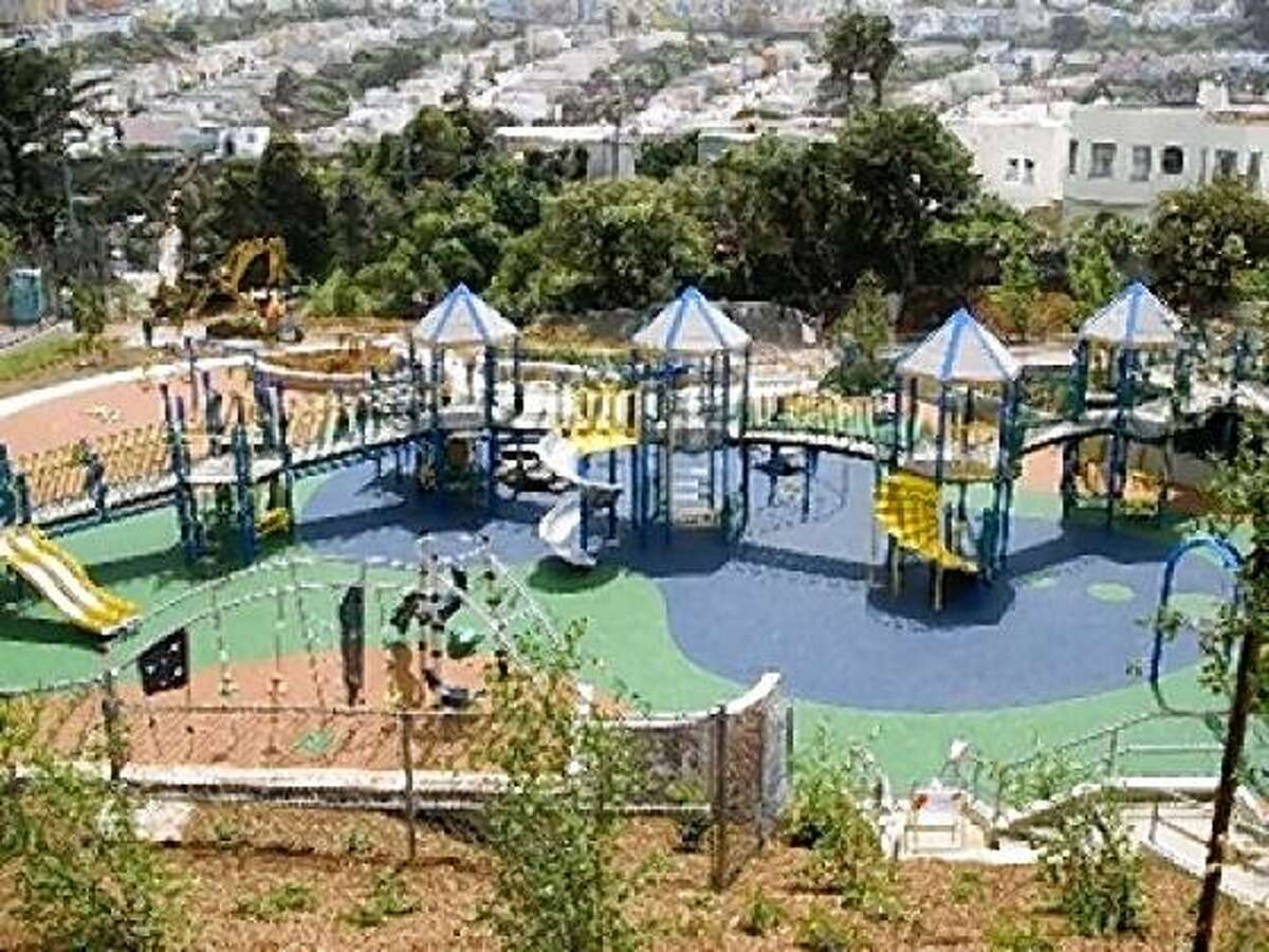 The newly renovated St. Mary's Playground in Bernal Heights.