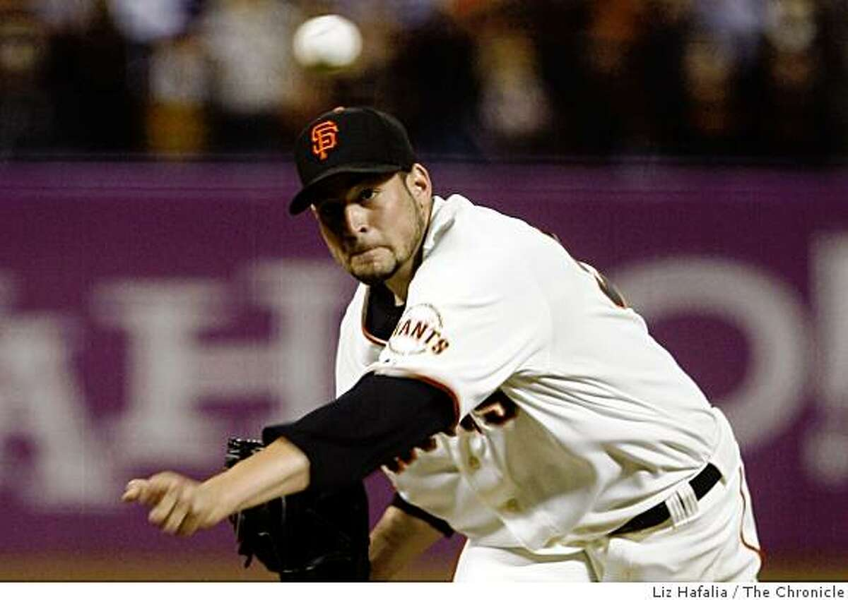 Jonathan Sanchez pitches a no-hitter at AT&T Park in San Francisco, Calif., on Friday, July 10, 2009.