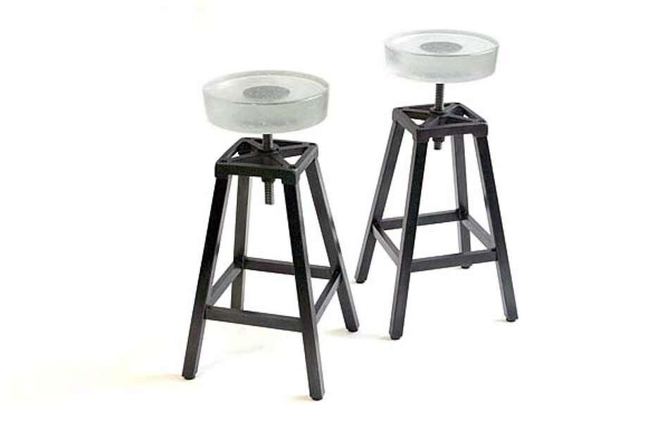 Glass stools by Gulassa Co. Photo: Ho