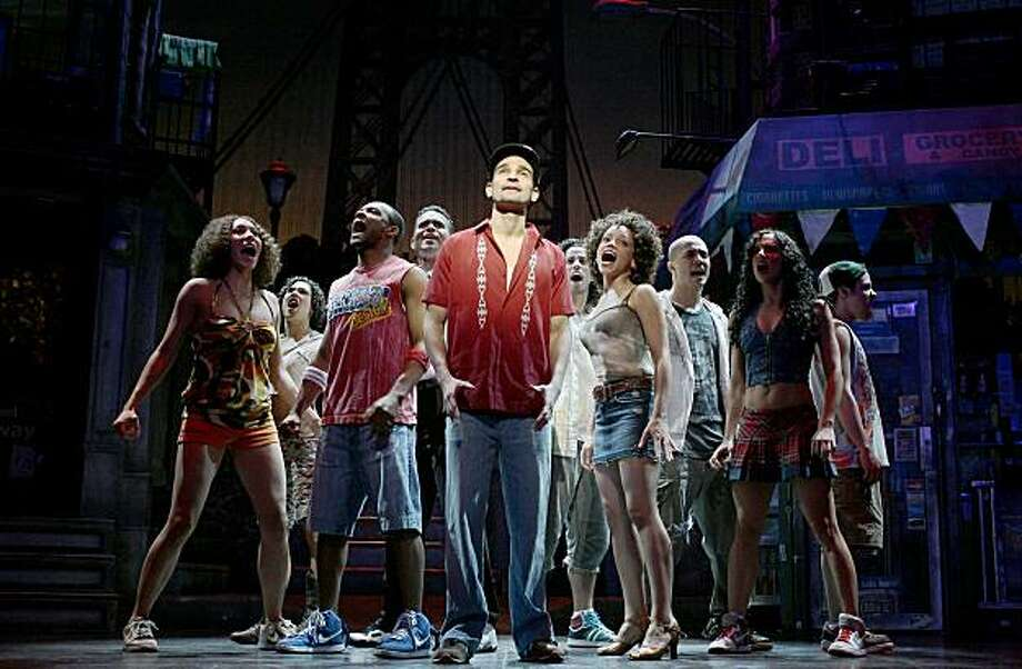 "Javier Munoz and the Broadway company of ""In the Heights"" Photo: Joan Marcus"
