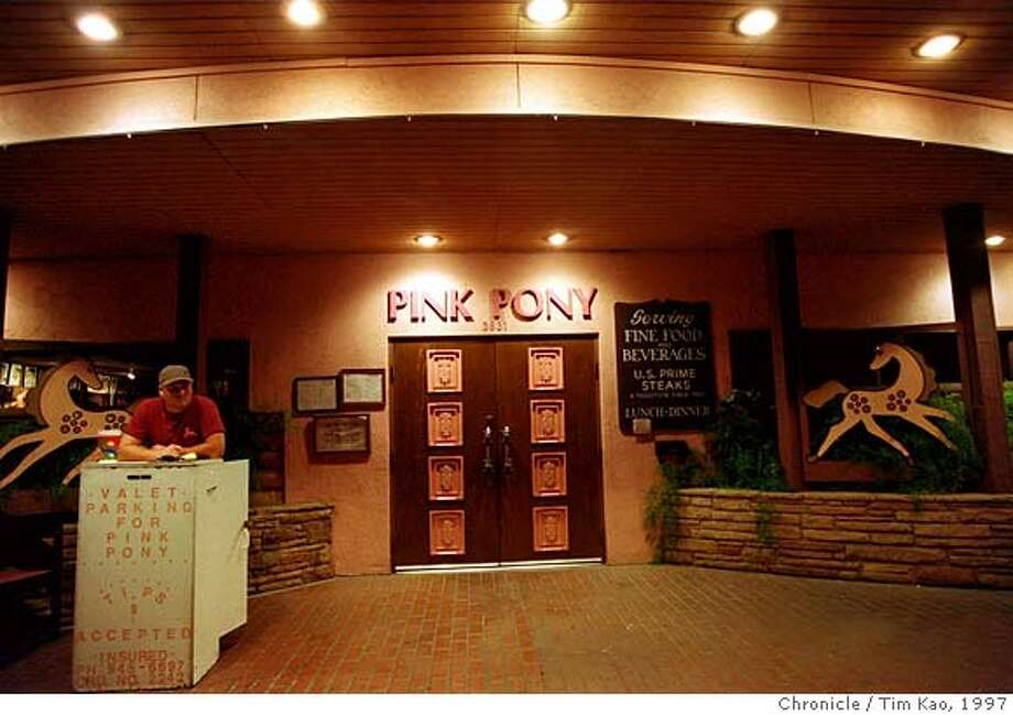PINK PONY 2/C/24MAR97/SP/TK  The Entrance of Scottdale's Pink Pony. By Tim Kao/San Francisco Chronicle. Owners Charlie and Gwen Briley of the Pink Pony Steakhouse restaurant. Photo: TIM KAO