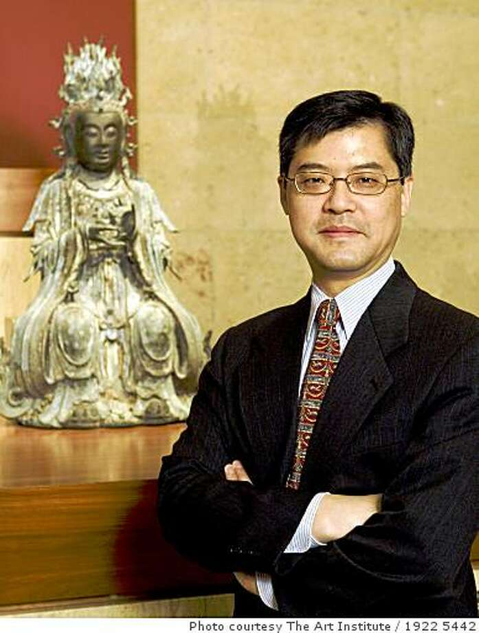 Jay Xu, newly appointed Director of the Asian Art Museum, in the Asian Art Galleries of The Art Institute of Chicago. Photo courtesy The Art Institute of Chicago. Photo: 1922 5442, Photo Courtesy The Art Institute