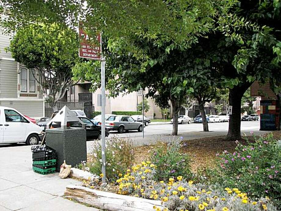 mini-park on Golden Gate Avenue and Steiner street. Photo: Jonathan Curiel, The Chronicle