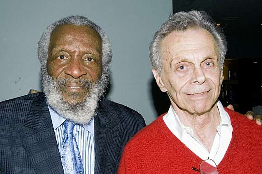 Dick Gregory (left) and Mort Sahl at the Rrazz Room. Photo: Pat Johnson