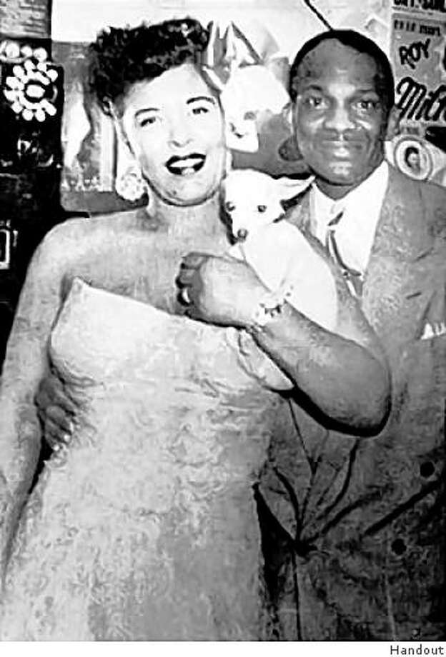 Longtime organizer of past Juneteenth celebrations Wesley Johnson, now deceased, with singer Billie Holliday. Photo: Handout
