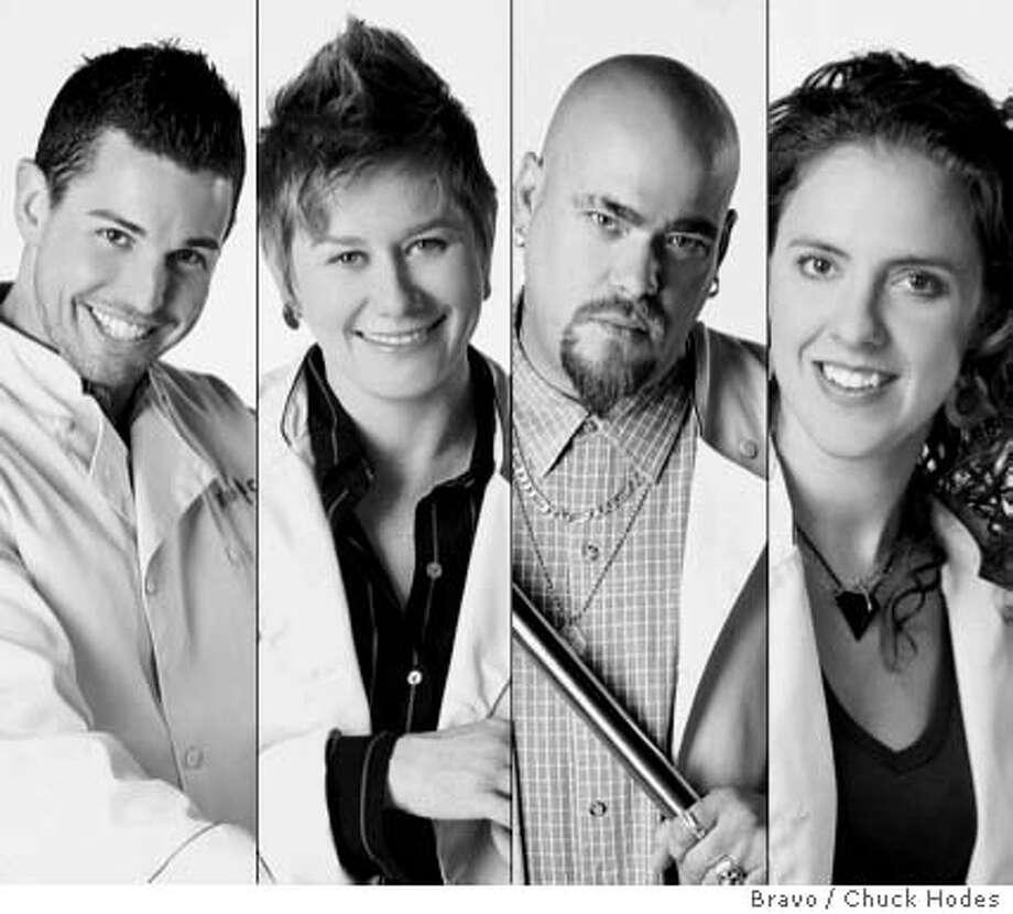 'Top' candidates L-R: Ryan Scott, Jennifer Biesty, Erik Hopfinger and Zoi Antonitsas. Bravo photos by Chuck Hodes