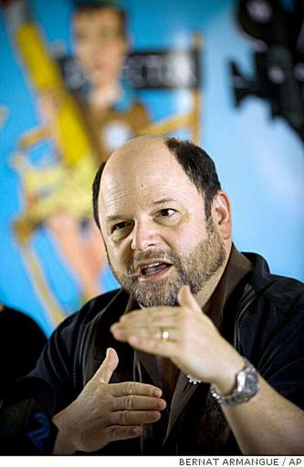 U.S. actor Jason Alexander talks during a press conference at a hotel in east Jerusalem, Wednesday, June 24, 2009.  Alexander was a creator of Imagine 2018, a project that made short films out of Israeli and Palestinian high school students' stories about what the world would be like 10 years on, if Israelis and their Arab neighbors make peace. Alexander said humor might help Israelis and Palestinians explore their similarities. (AP Photo/Bernat Armangue) Photo: BERNAT ARMANGUE, AP