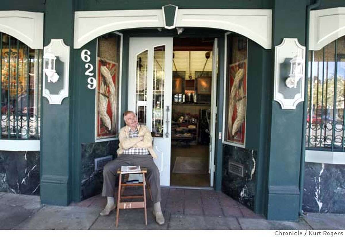 ###Live Caption:Richard Lemke, the proprietor of Mr. Ric Men's Clothing on Marin St in Vallejo, Calif., sits in front of his building and reads the paper on Wednesday March 5, 2008. Photo By Kurt Rogers / San Francisco Chronicle###Caption History:Richard Lemke the Proprietor of Mr. Ric specialist in fine men�s cloths scenes 1965 on Marin St in Vallejo sits in front of his building and reads the paper. On Wednesday March 5,2008 Photo By Kurt Rogers / San Francisco Chronicle###Notes:How Vallejo went from budding renaisance city to near-bankrupt in a coupal of years.###Special Instructions:MANDATORY CREDIT FOR PHOTOG AND SAN FRANCISCO CHRONICLE/NO SALES-MAGS OUT