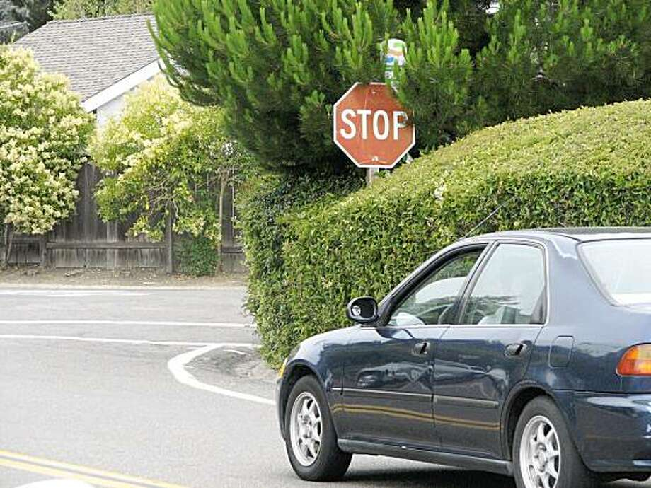 intersection of Bayview Terrace and Belvedere Drive in Mill Valley. Photo: Jonathan Curiel, The Chronicle