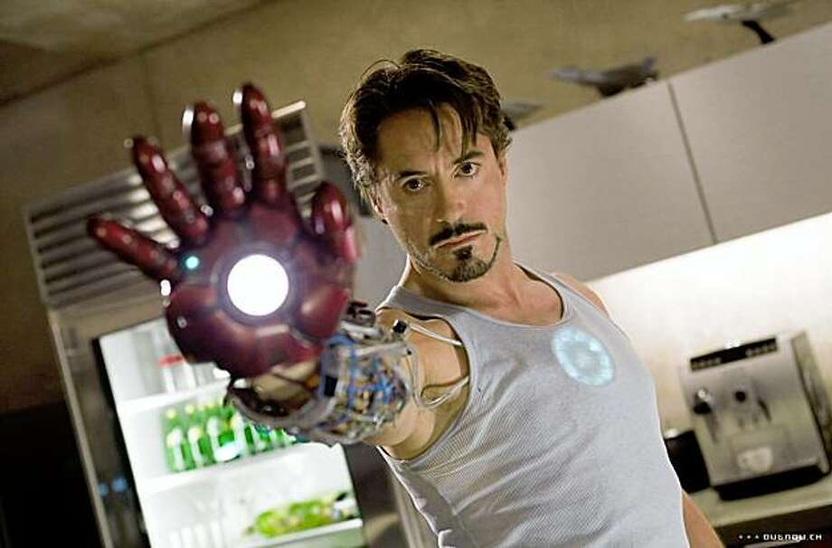 """Robert Downey Jr. in """"Iron Man"""" 2008 Photo: Paramount Pictures, Outnow.com"""