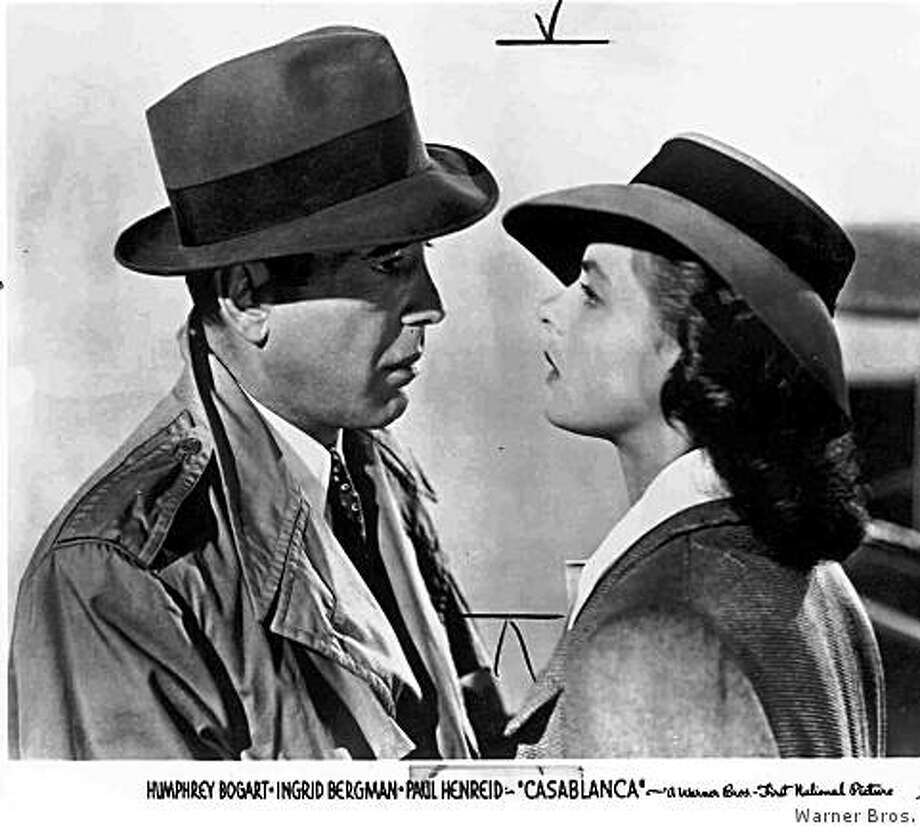 Humphrey Bogart, Ingrid Bergman in Casablanca Photo: Warner Bros.