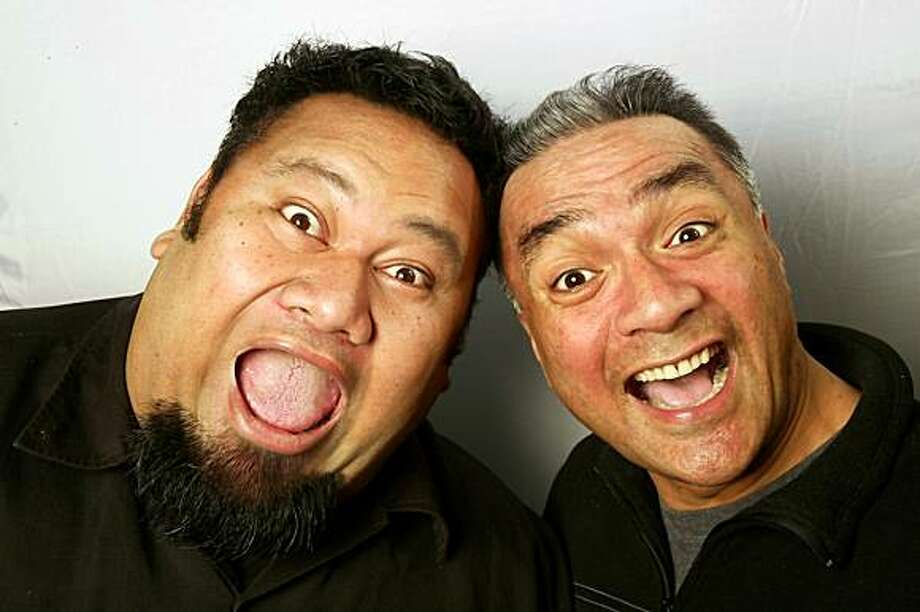 Tofiga Fepulea'i (left) and Eteuati Ete, a.k.a. the Laughing Samoans, bring Polynesian humor from New Zealand. Photo: Laughing Samoans