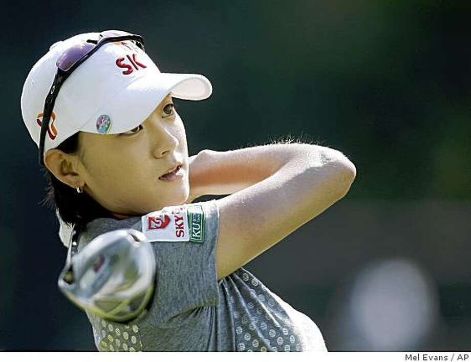 Na Yeon Choi, of Korea, follows her tee shot on the fourth hole during the first round of the U.S. Women's Open golf tournament, Thursday, July 9, 2009, at Saucon Valley Country Club in Bethlehem, Pa. (AP Photo/Mel Evans) Photo: Mel Evans, AP