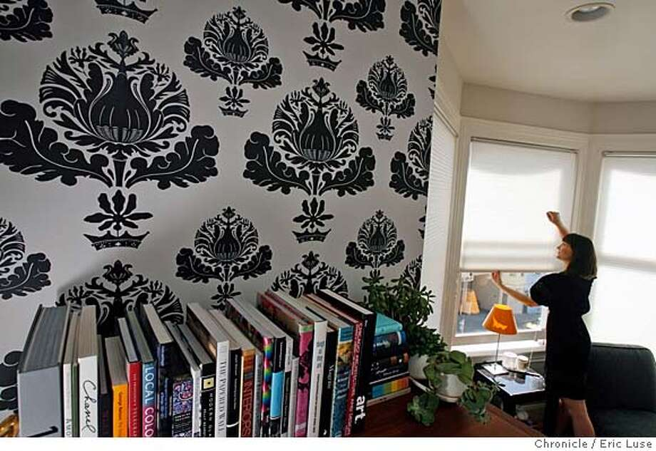 ###Live Caption:Christiana Coop's San Francisco home display's her new venture, wall paper from Ferm Living photographed Monday March 3, 2008, in her home. In her living room she used the Kingflower pattern. After years practicing law she is now a partner as U.S. distributer for the Danish company. Photo by Eric Luse / San Francisco Chronicle###Caption History:Christiana Coop's San Francisco home display's her new venture, wall paper from Ferm Living photographed Monday March 3, 2008, in her home. In her living room she used the Kingflower pattern. After years practicing law she is now a partner as U.S. distributer for the Danish company. Photo by Eric Luse / San Francisco Chronicle###Notes:Name cq by source  Christiana Coop###Special Instructions:MANDATORY CREDIT FOR PHOTOG AND SAN FRANCISCO CHRONICLE/NO SALES-MAGS OUT Photo: Eric Luse