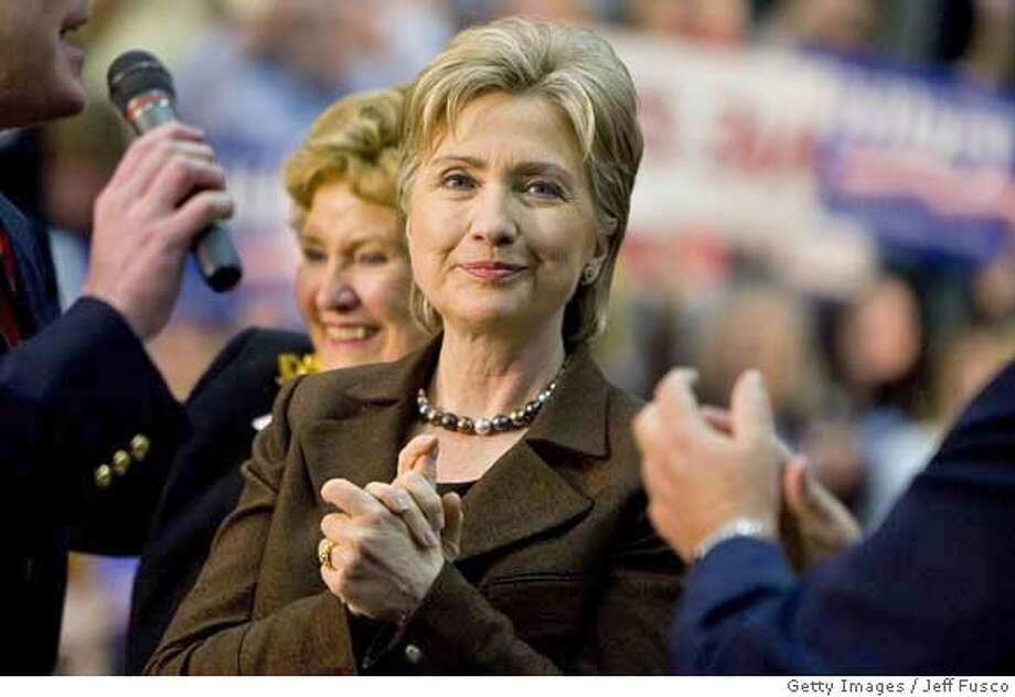 "###Live Caption:SCRANTON, PA - MARCH 10: Democratic presidential hopeful Sen. Hillary Clinton of New York attends at a ""Solutions for America"" rally on March 10, 2008 in Scranton, Pennsylvania. The state's pivotal, delegate-rich primary is Aprill 22. (Photo by Jeff Fusco/Getty Images)###Caption History:SCRANTON, PA - MARCH 10: Democratic presidential hopeful Sen. Hillary Clinton of New York attends at a ""Solutions for America"" rally on March 10, 2008 in Scranton, Pennsylvania. The state's pivotal, delegate-rich primary is Aprill 22. (Photo by Jeff Fusco/Getty Images)###Notes:Hillary Clinton Takes Her Campaign To Pennsylvania###Special Instructions: Photo: Jeff Fusco"