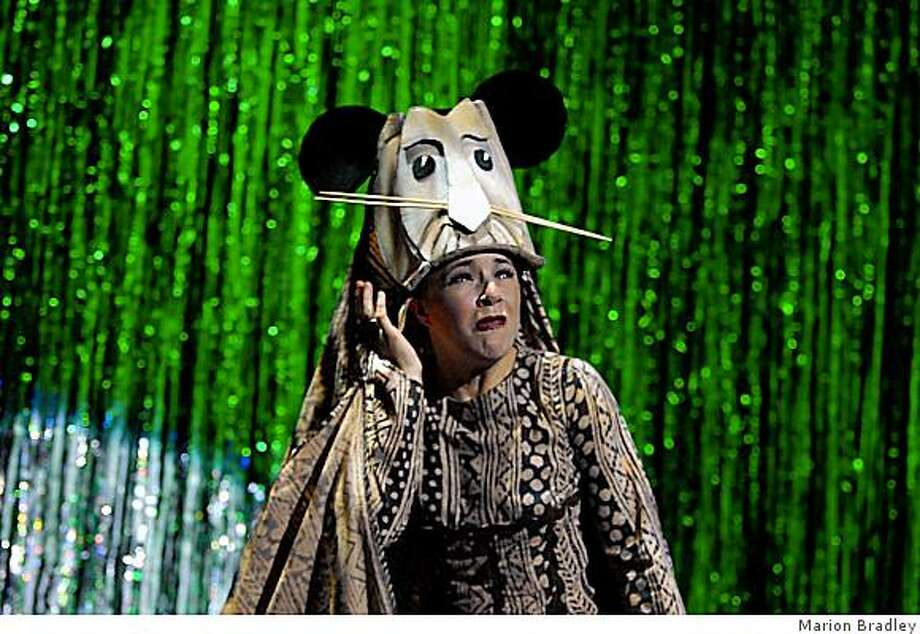 "Danica Connors in a spoof of ""The Lion King"" in ""Forbidden Broadway."" Photo: Marion Bradley"