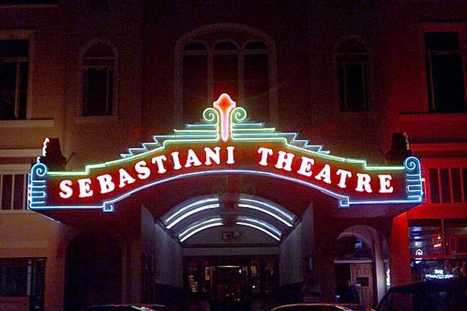 "Sonoma, CA. ""Sebastiani Theater"". 476 E. First st.  The Sebastiani Theater opened April 6, 1934.  Today, the neon outside is very much the same. Photo: John O'Hara, The Chronicle"