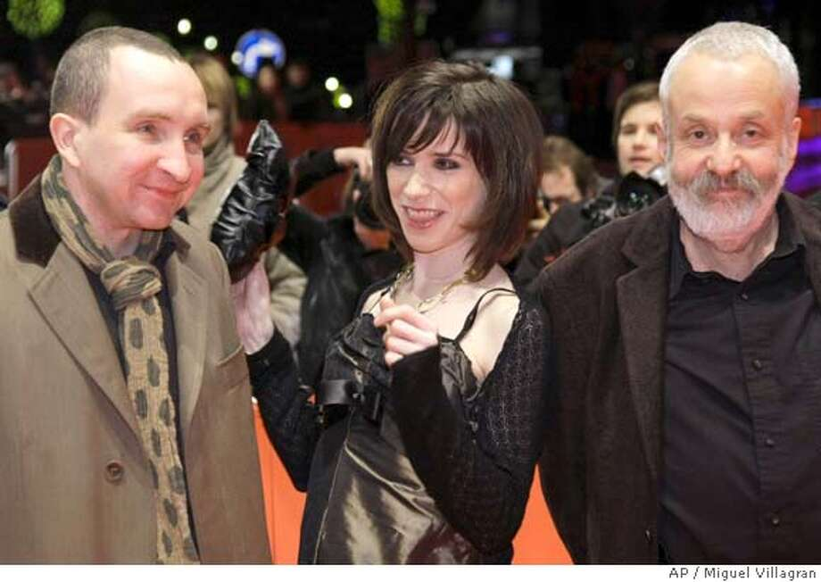 "Sally Hawkins, middle, at the ""Happy-Go-Lucky"" premiere at the Berlin Film Fest in 2008.  Photo: Miguel Villagran"