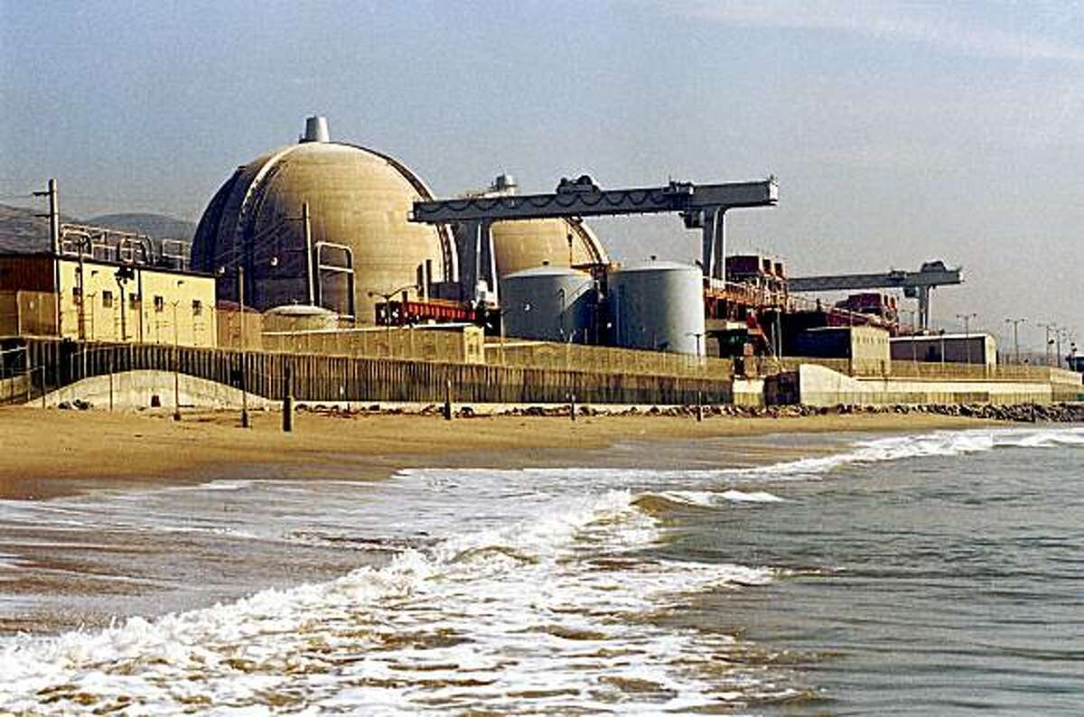 Surf rolls along the beach in front of San Onofre nuclear plant, May 10, 1998, at San Onofre State Beach, about 60 miles south of Los Angeles.